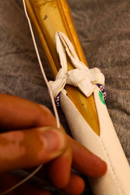 nudo del tsuru. Paso 1