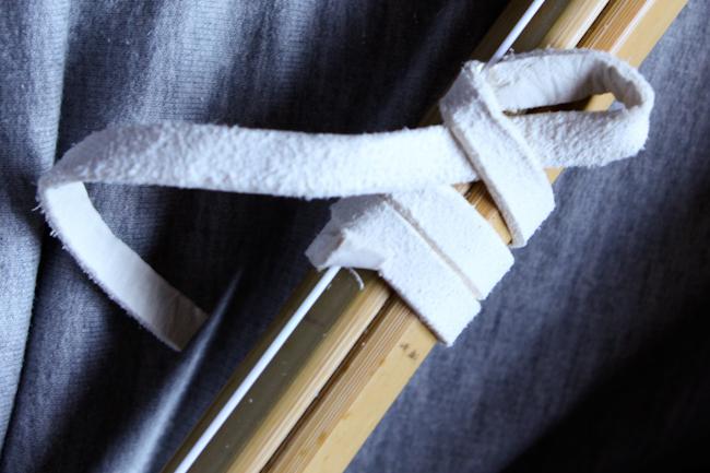 nudo del nakayui. Paso 1