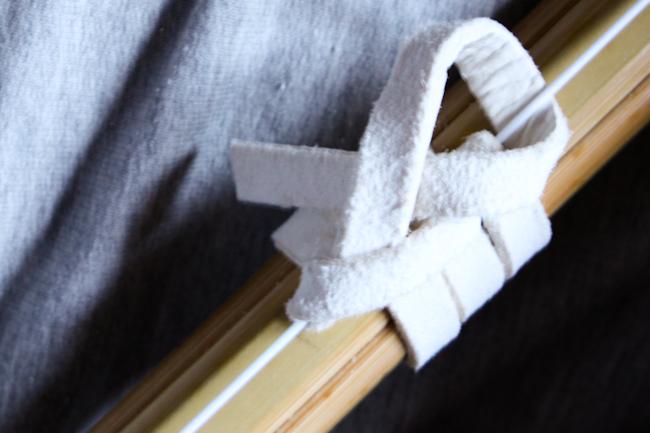 nudo del nakayui. Paso 3